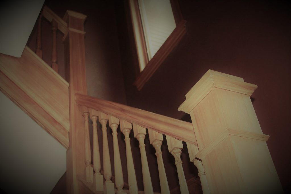 The staircase to the upstairs tenants apartment.