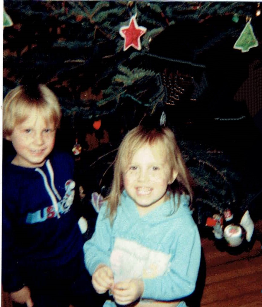 Christmas 1984-kids and ornaments