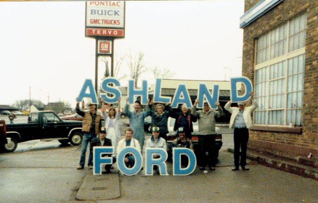 Ashland Ford sign-The last day