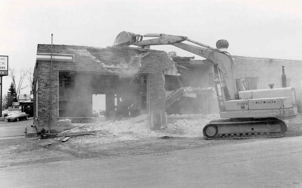 Demolition-Ashland Ford Building