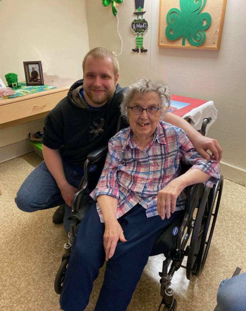 Marion Larson (Mom) with Cory Barnes (Son) March 14th 2020