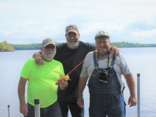 Buddies Mike Grezetich, Andy Rauschenbach, and Brad Jelinek fished the Gile Flowage in Wisconsin in August 2017. Their friendship began in childhood in Lisle, Illinois, in the 1960s.