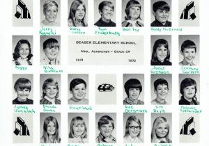 1971-72 Beaser School- Grade 5-Mrs. Ashbacher