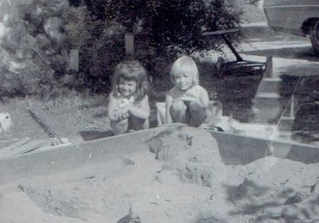 Sand Box Creation 1966-Jodi and I (2)